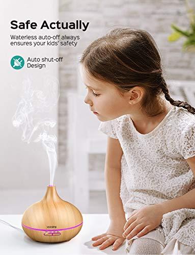 VicTsing Aroma Diffuser | Dekorativer Ultraschall Öl Diffusor - 2