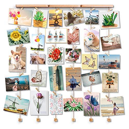 Bilderwand ohne Rahmen | Hübsche Hänge-Collage aus Holz