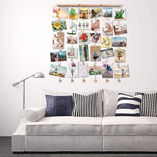 Bilderwand ohne Rahmen   Hübsche Hänge-Collage aus Holz - 8