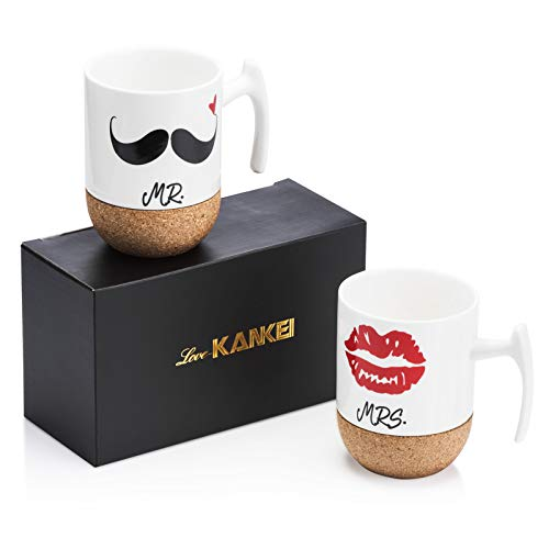 Love-KANKEI | Kaffeetassen Set mit Korkboden