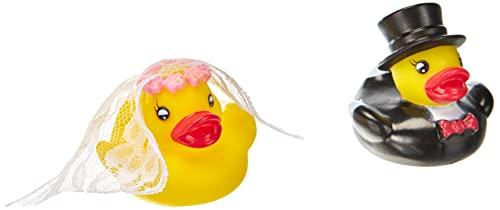 Ente Hochzeitspaar | 2 Quitsche Entchen für Paare