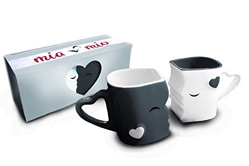 Mia ♥ Mio |  Küssende Tassen Geschenk Set
