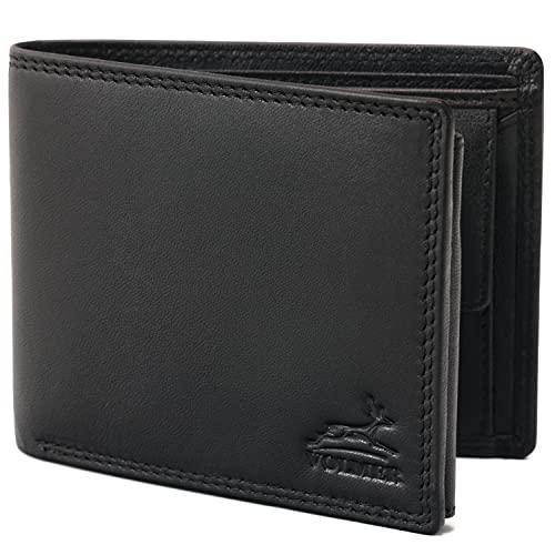 Fa.Volmer ® Schwarze Herren Ledergeldbörse aus echtem Leder