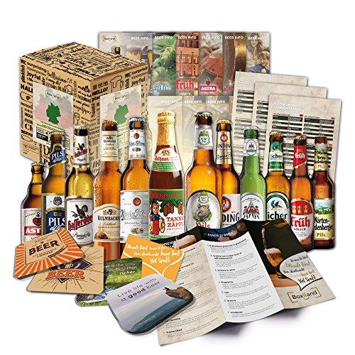 12 Bierspezialitäten aus Deutschland | Geschenkbox inkl. Bierdeckel & Bier-Infos