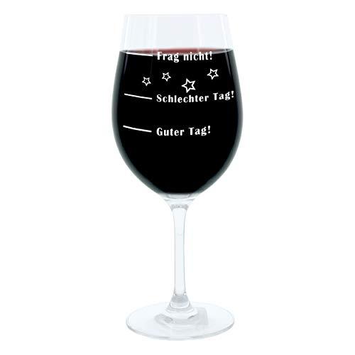 Leonardo Stimmungs-Weinglas mit lustiger Gravur