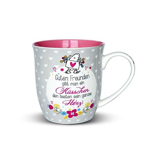 Sheepworld | Guten Freunden gibt man ein Küsschen - Porzellan Tasse