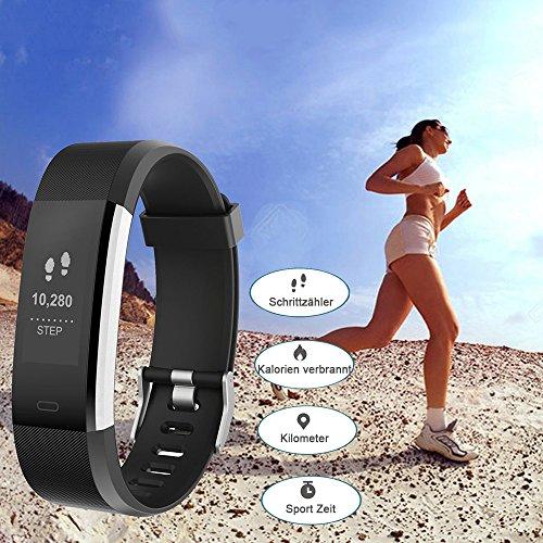 YAMAY Fitness Armband | Wasserdichte Smartwatch & Fitness Tracker - 3