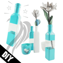 Flasche als Vase